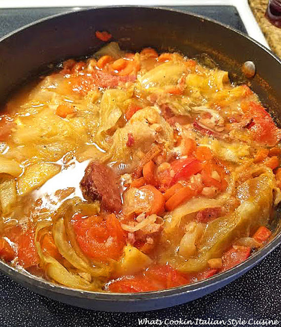 a comfort soup with corned beef and cabbage soup