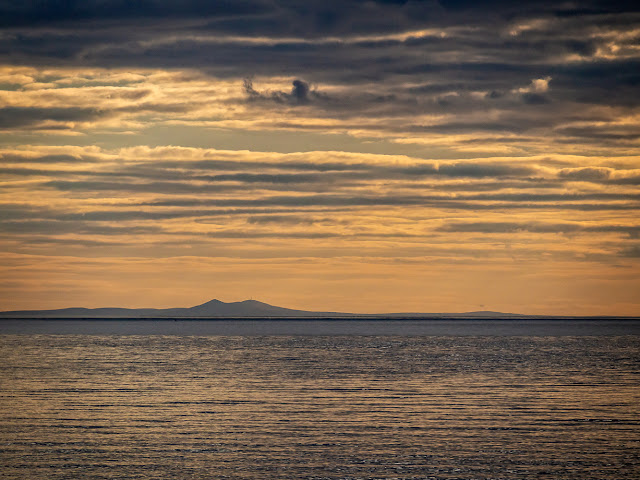Photo of the Isle of Man from the shore at Maryport