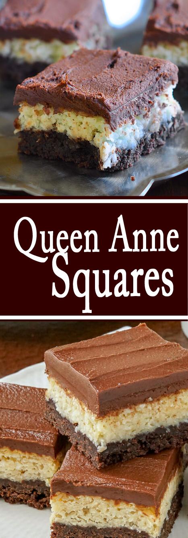 Recipe Queen Anne Squares #bars #cookies