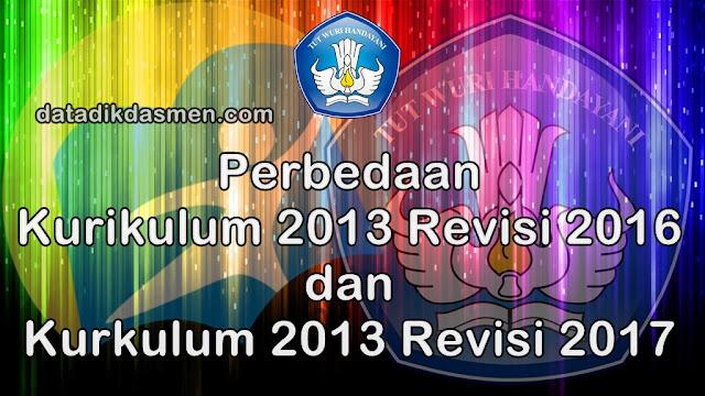 Apa pembeda RPP K13 Revisi 2016 dengan RPP K13 Revisi 2017?