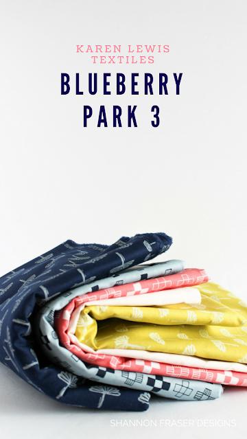 Q2 2018 Finish-A-Long | Shannon Fraser Designs | Blueberry Park 3 by Karen Lewis Textiles