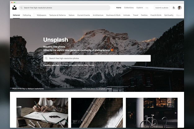 Unsplash - Μία βραβευμένη ιστοσελίδα με πάνω από 1.5 εκατομμύρια δωρεάν φωτογραφίες