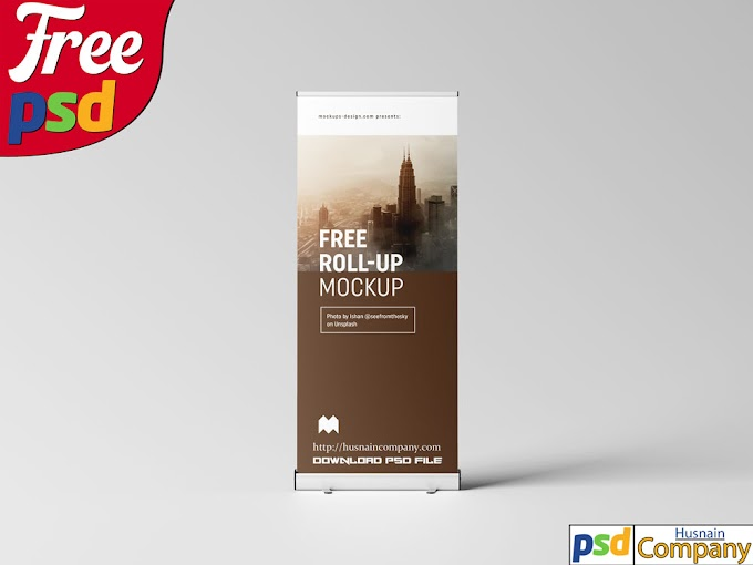 Download Free Roll-up PSD Mockup #1
