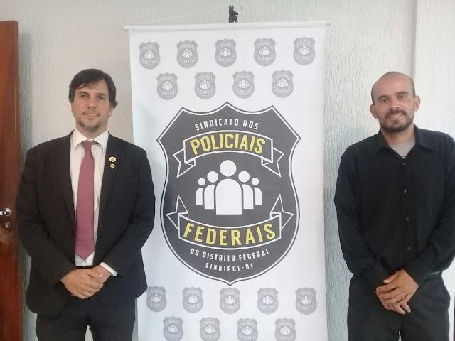Gesio Neves visita Flávio Werneck e leva a pauta dos crimes cibernéticos