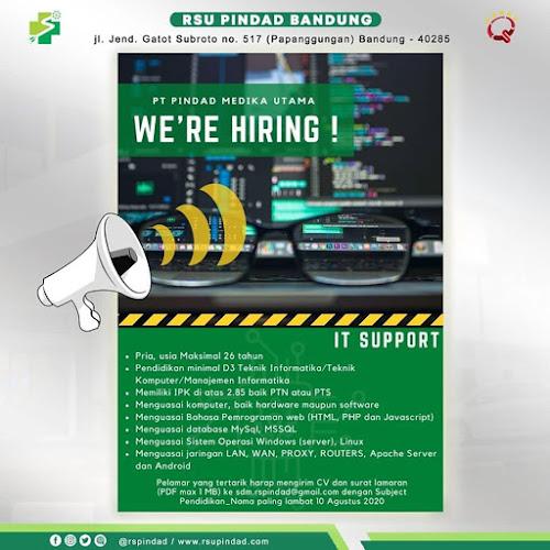 Lowongan Kerja RSU Pindad Bandung