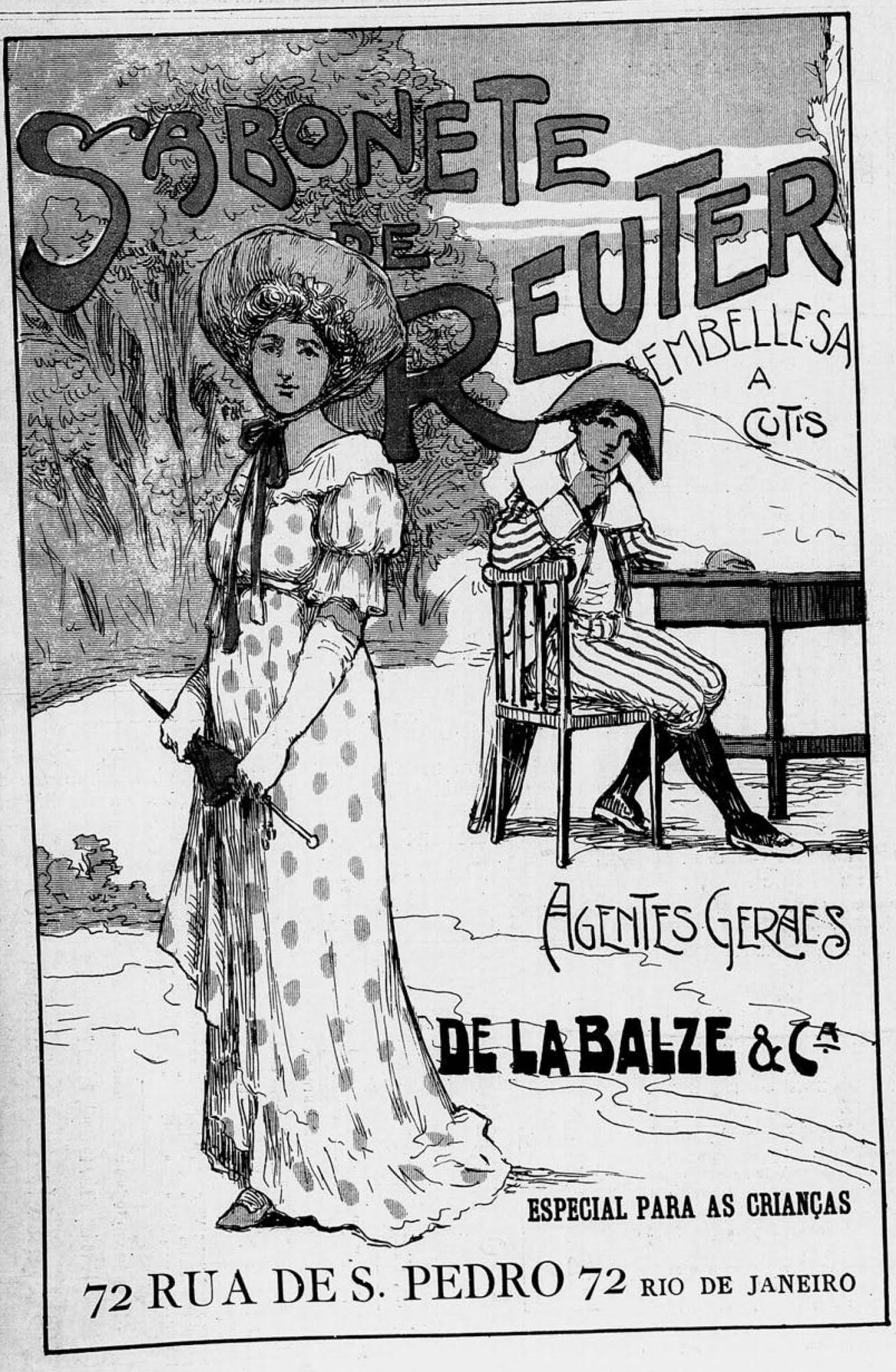 Propaganda antiga do Sabonete de Reuter veiculada em 1906
