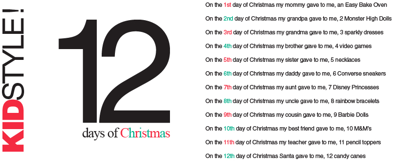 12 days of christmas writing activities