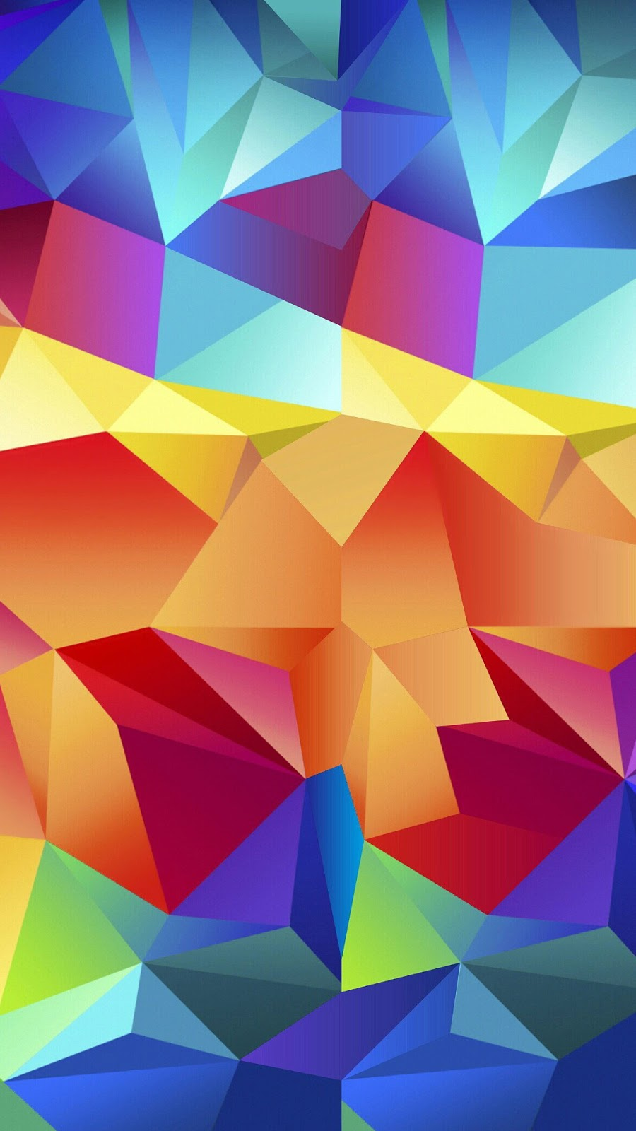 Colorful Random Triangles Android Wallpaper