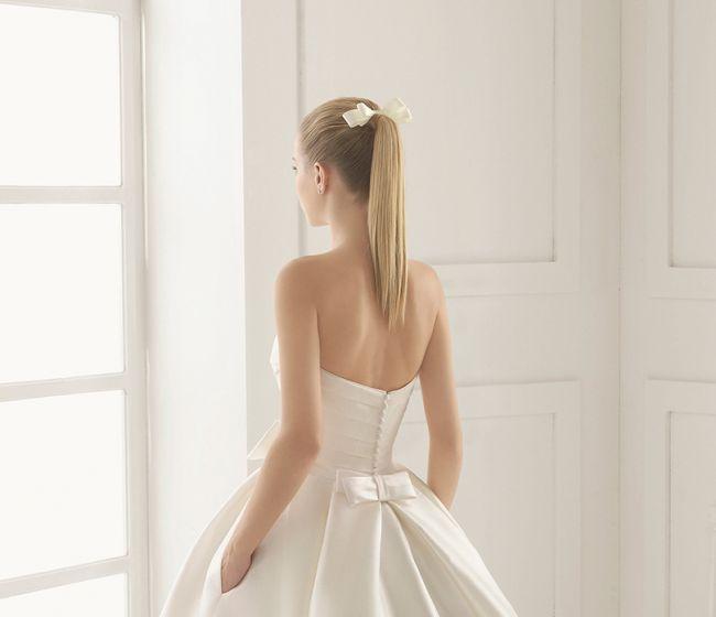Peinado de novia cola de caballo
