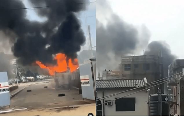 Anti-riot Policemen Evacuate TVC Staff After Mob Attack (Photo) #Arewapublisize