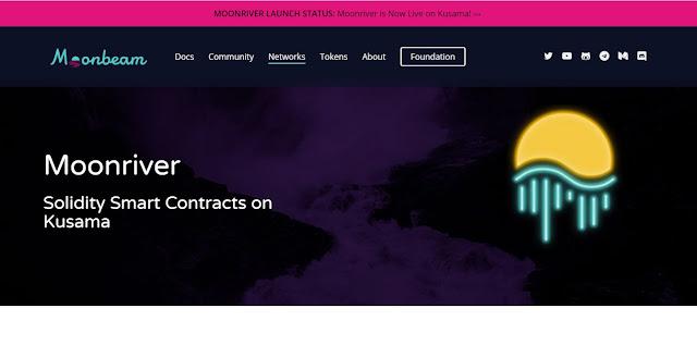 Screenshot Website Moonriver (MOVR)