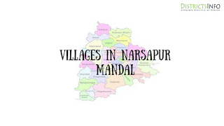 Narsapur Mandal with  villages