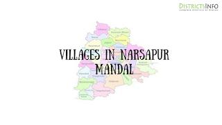 Narsapur Mandal with  villages