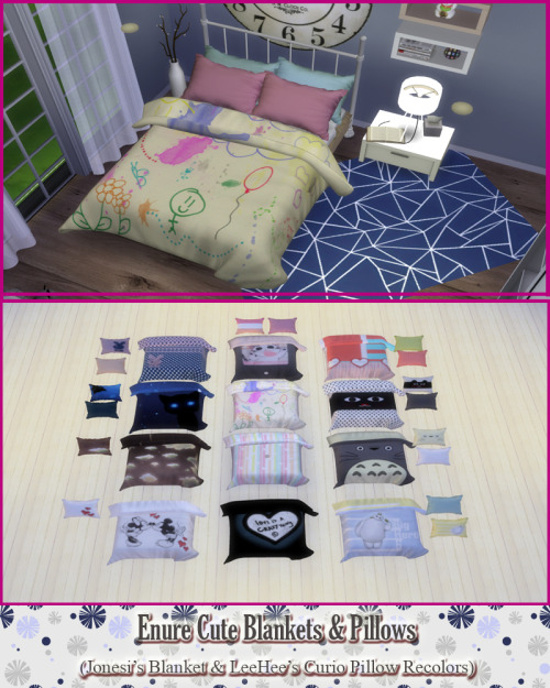 Cute Pillows And Blankets : My Sims 4 Blog: Cute Blankets and Pillows Recolors by EnureSims