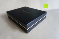 Box: bupell Flache Portemonnaie mit herausnehmbarem Ausweisfach - Aus echtem Leder - Seitlichem Münzfach mit Reißverschluss - Schwarz