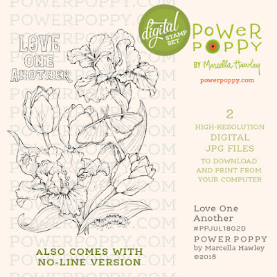 Power Poppy, Marcella Hawley, Love One Another, Digital Image, July 2018