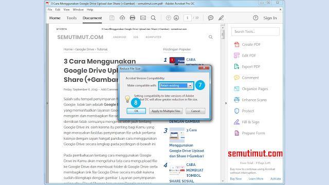 cara kompres PDF Adobe Acrobat Reader dc