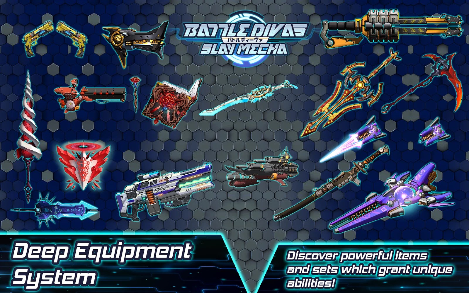 Battle Divas: Slay Mecha - weapons