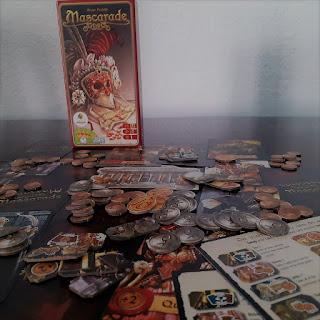 Mascarade el juego de mesa componentes completos