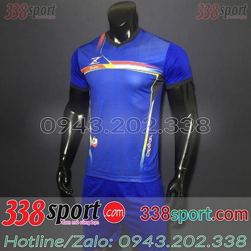 Áo Bóng Đá Không Logo Hot Zavikia LoCo STA01 Xanh Đậm