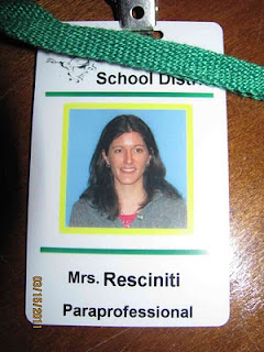 ID Badge for Substitute Paraprofessional at a School