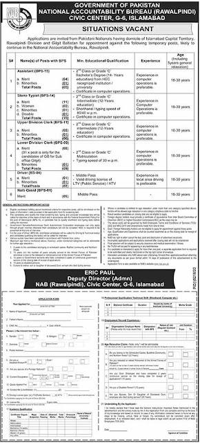 (NAB) National Accountability Bureau Jobs 2021