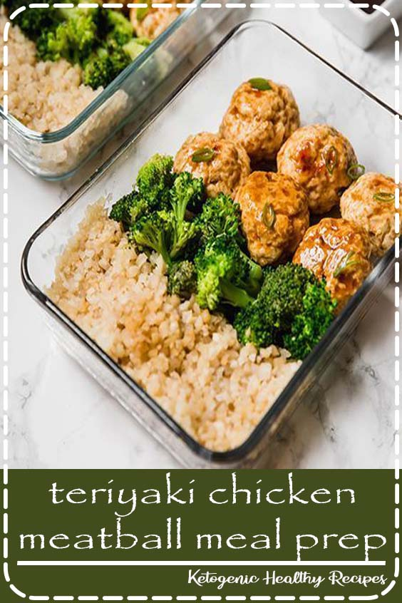 This teriyaki chicken meatball meal prep recipe is great for prepping on the weekend to have lunches or dinners for the week! It's paleo, whole30, AIP and an all-around healthy lunch option. #healthy #teriyaki #whole30