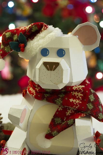 3d svg Christmas Bear