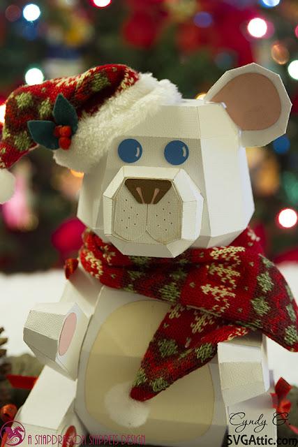 3d svg Christmas Bear