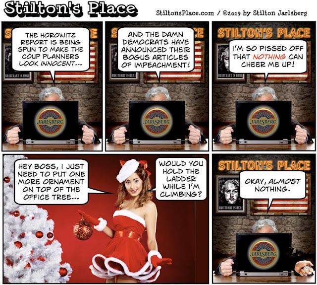 stilton's place, stilton, political, humor, conservative, cartoons, jokes, hope n' change, horowitz, articles of impeachment, trump, busty ross