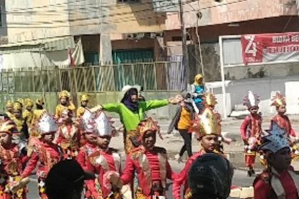 Siswa TK, SD Dan SMP Di Cepu Ikuti Karnaval Budaya HUT RI KE 74