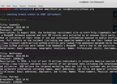 OSINT With Datasploit - DZone Security