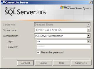 Login ke SQL Server menggunakan management studio