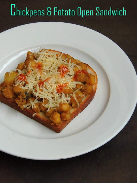 Chickpeas & potato open sandwich