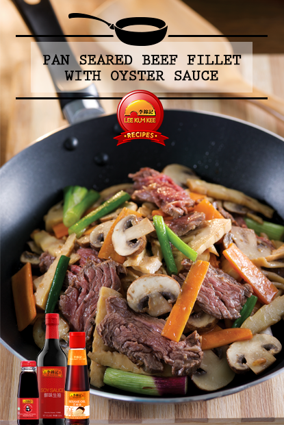 Pan Seared Beef Fillet with Oyster Sauce
