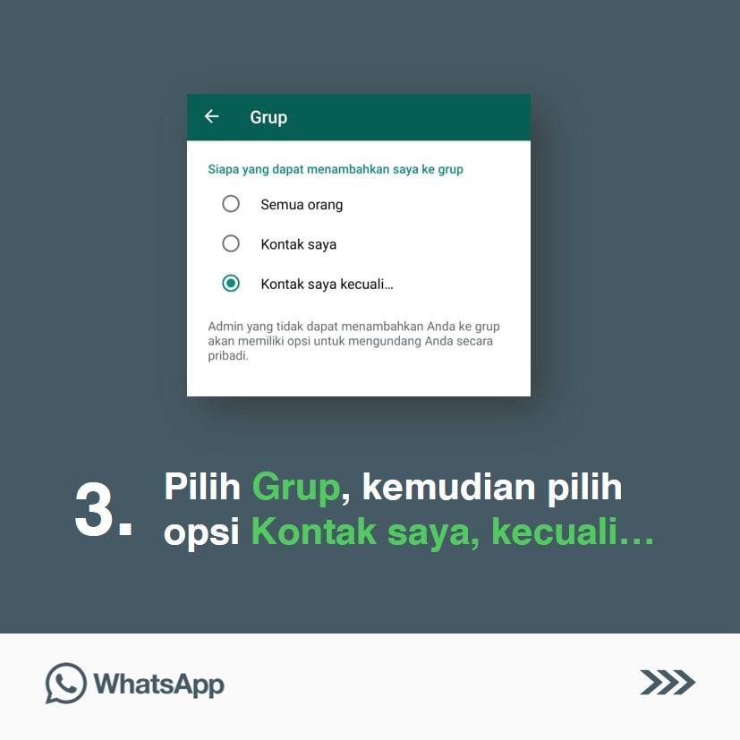 Cara Supaya Tidak Ditambahkan Ke Dalam Grup Whatsapp Tanpa Izin