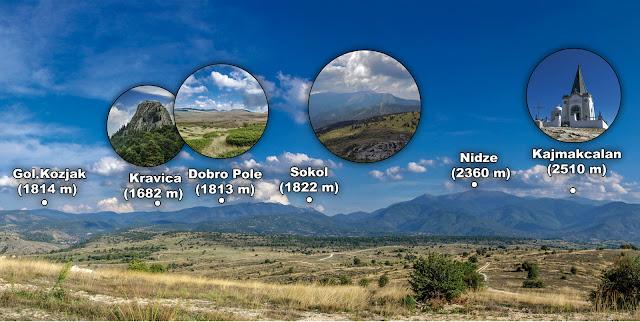 View towards Nidze Mountain from Monastery St. Atanasij near Staravina village