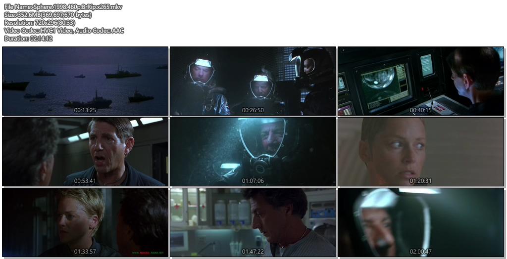 Sphere 1998 BluRay 480p 350MB x265 Movie Screenshots