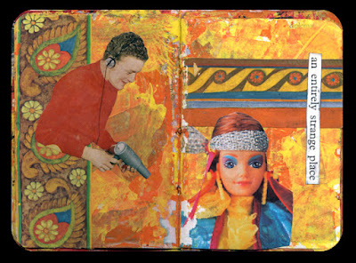 Book with collages about Barbie
