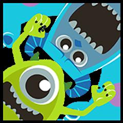 Monsters, Inc. สติกเกอร์ป๊อปอัพ