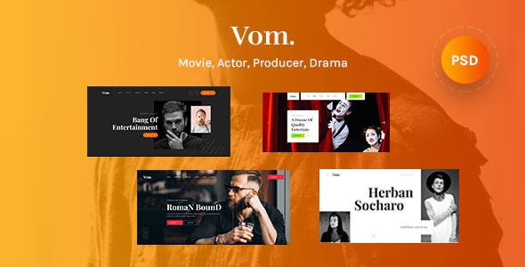 Film Maker, Video, Movie & Actor PSD Template