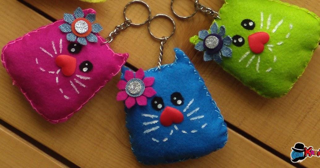 portachiavi con gattini in feltro tutorial kreattivablog