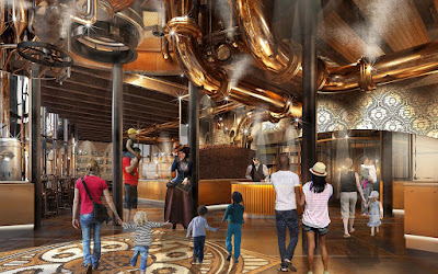 steampunk chocolate factory in universal citywalk orlando florida concept rendering steampunk restaurant
