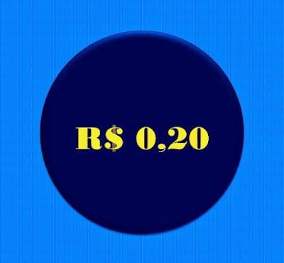 A imagem mostra os vinte centavos de real, símbolo das manifestações  golpistas de 2013.