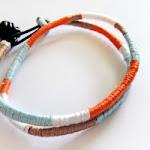 DIY Colorblock Friendship Bracelet