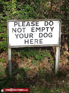 please do not empty your dog here funny sign
