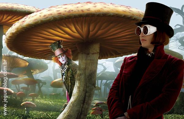 Chapeleiro Maluco (Alice no País das Maravilhas) e Willy Wonka (A Fantástica Fábrica de Chocolate)