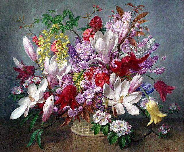 Mon jardin fleuri Beaux tableaux avec des fleurs