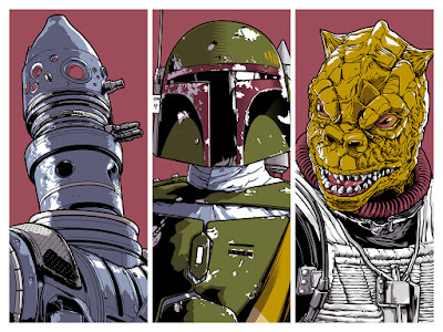 "Star Wars Day 2018 Commemorative ""Bounty Hunters"" Screen Print by Joshua Budich"