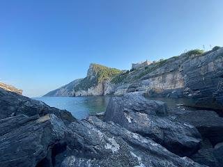 Looking toward Cinque Terre from Grotta Byron - Porto Venere
